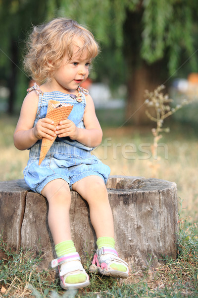 Child with ice-cream Stock photo © Yaruta