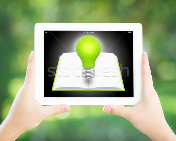 Man hands holding tablet PC Stock photo © Yaruta