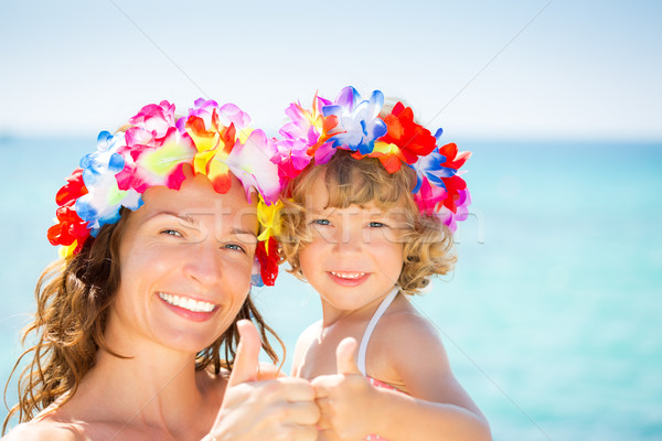Woman and child showing thumb up  Stock photo © Yaruta