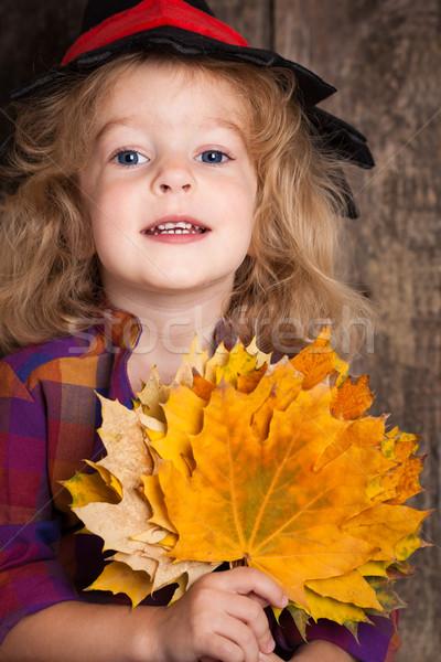 Photo stock: Kid · heureux · halloween · fille