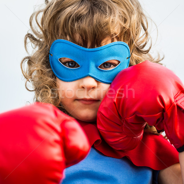 Superhero kid. Girl power concept Stock photo © Yaruta