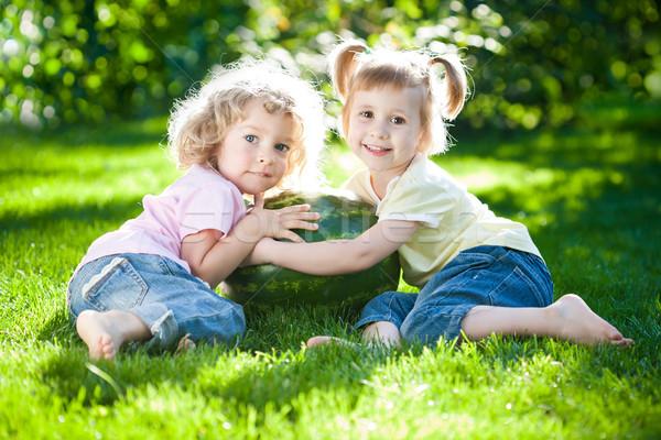 Children having picnic Stock photo © Yaruta