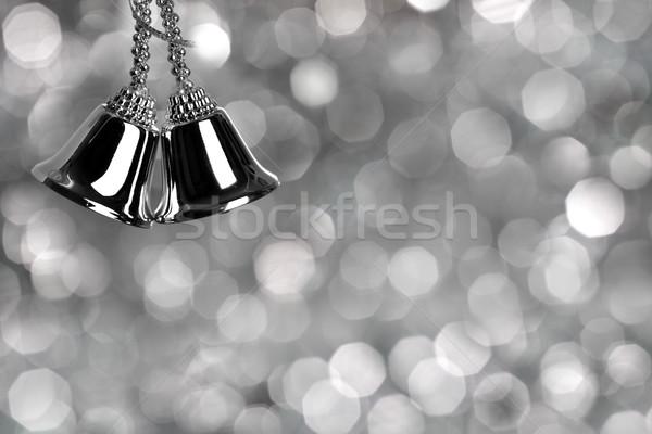 ストックフォト: 銀 · クリスマス · 抽象的な · 雪 · 誰も