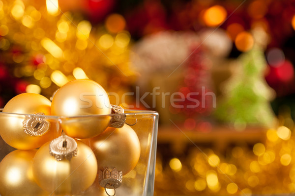 Gold Christmas balls Stock photo © Yaruta