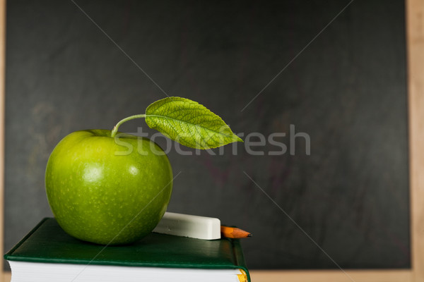 Apple against blackboard Stock photo © Yaruta