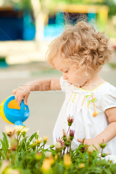 Child in summer garden Stock photo © Yaruta