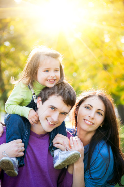Familia feliz otono parque aire libre dorado Foto stock © Yaruta