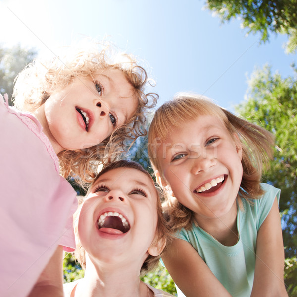 Happy children having fun Stock photo © Yaruta