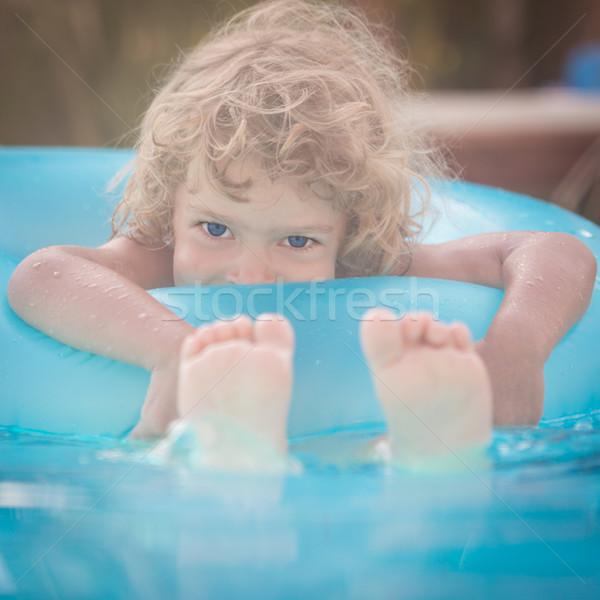 Bambino piscina felice giocare estate vacanze Foto d'archivio © Yaruta