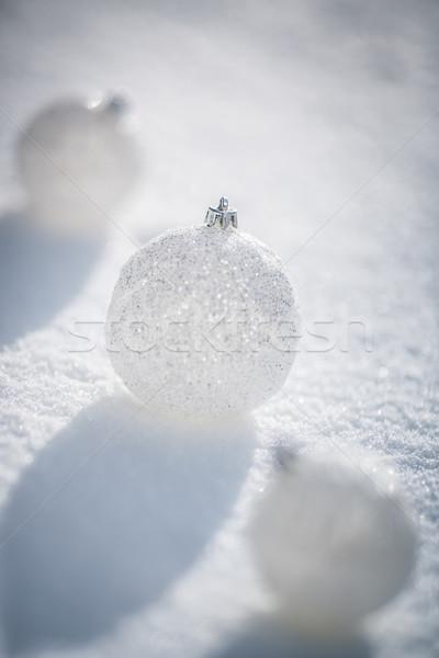 серебро Рождества снега реальный улице Сток-фото © Yaruta