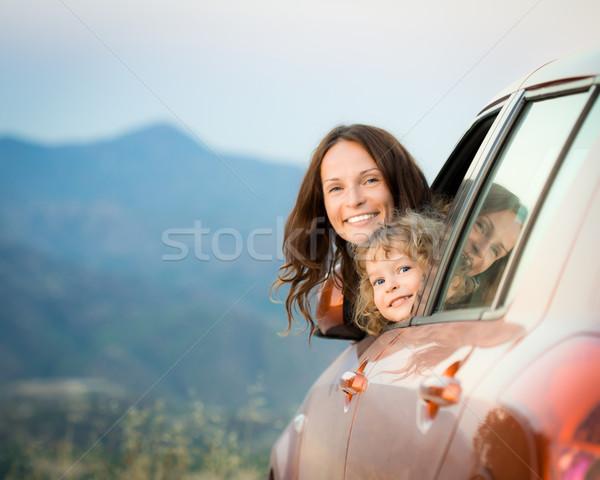 Család autó utazás boldog család nyári vakáció utazás Stock fotó © Yaruta