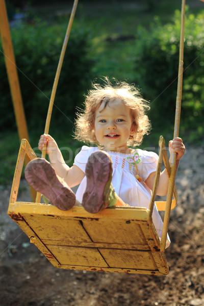 Foto d'archivio: Giocare · cute · bambina · ragazza · bambino · estate