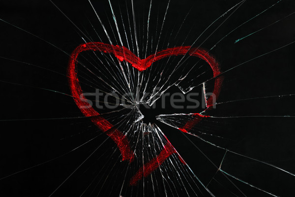 Gebroken glas hart abstract verf glas Stockfoto © Yaruta