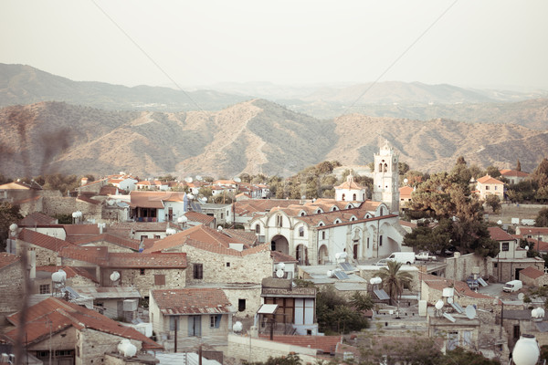 View of old buildings of the authentic Cyprus village Stock photo © Yaruta