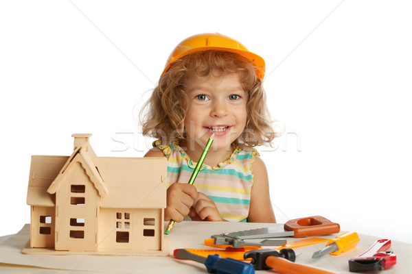 Happy child builds house Stock photo © Yaruta