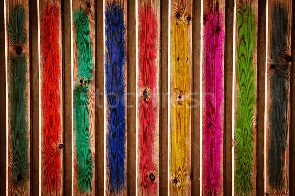 Fa textúra absztrakt festett grunge fal háttér Stock fotó © Yaruta