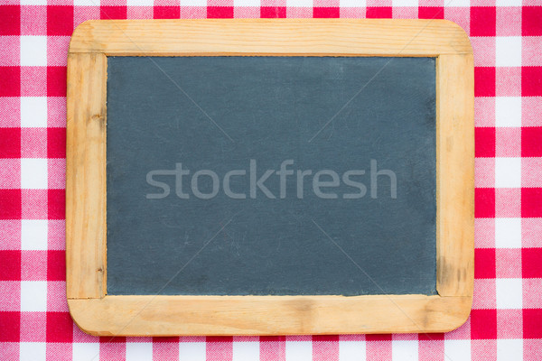 Vintage blackboard on gingham Stock photo © Yaruta