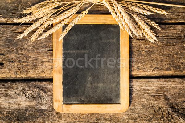 Trigo edad pizarra otono madera vieja madera Foto stock © Yaruta