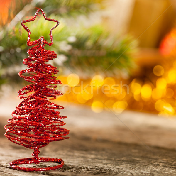 Handmade Christmas tree Stock photo © Yaruta