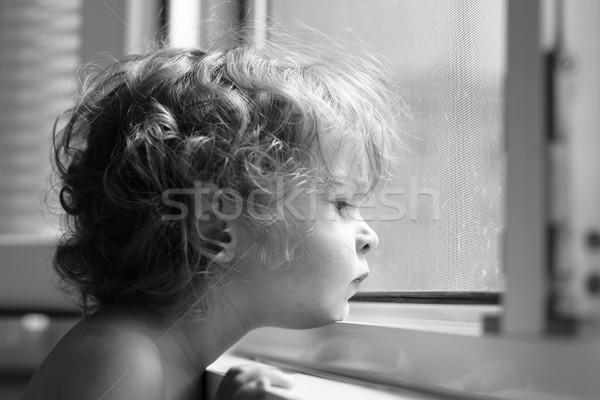 Child looking into window Stock photo © Yaruta