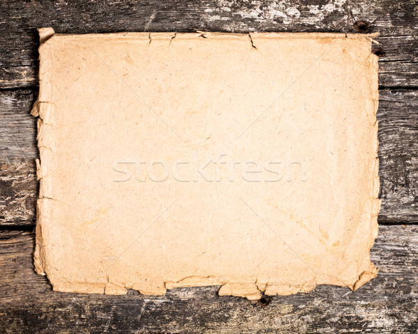 Kâğıt ahşap bağbozumu grunge ahşap çerçeve Stok fotoğraf © Yaruta