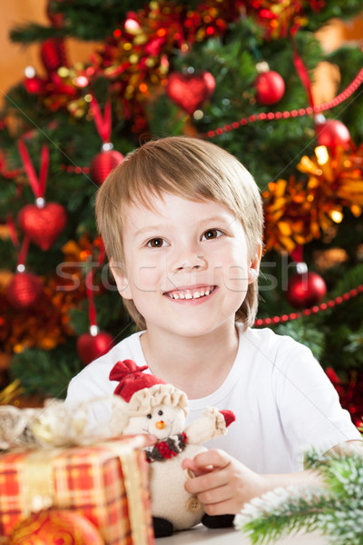 Happy boy in Christmas Stock photo © Yaruta