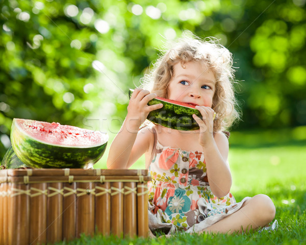Child eating watermelon Stock photo © Yaruta