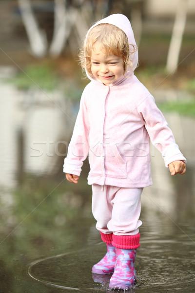Child in puddle Stock photo © Yaruta