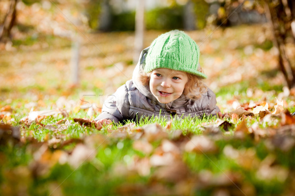 Baby in autumn Stock photo © Yaruta
