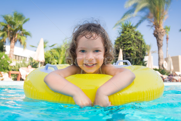 Child in swimming pool Stock photo © Yaruta