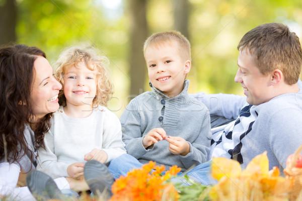 Family having picnic in autumn Stock photo © Yaruta