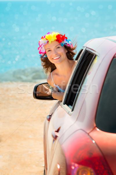 été voiture voyage heureux femme pilote Photo stock © Yaruta