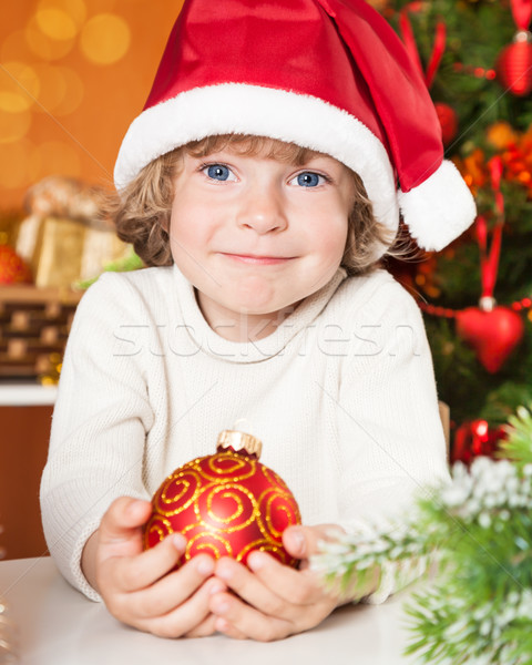Stock photo: Happy child holding ball