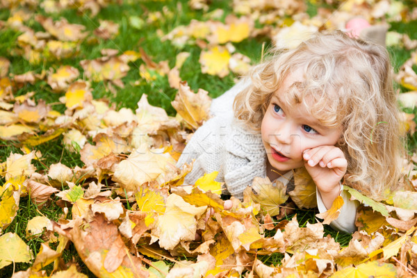 Portrait of child in autumn Stock photo © Yaruta