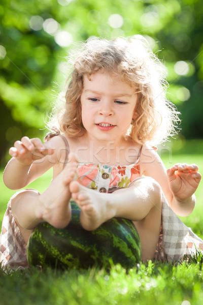 Child playing with watermelon Stock photo © Yaruta