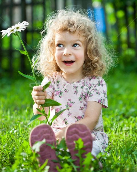 Child with flower Stock photo © Yaruta