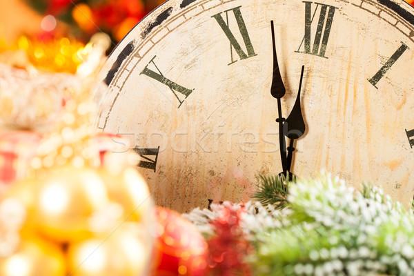 Old wooden clock Stock photo © Yaruta