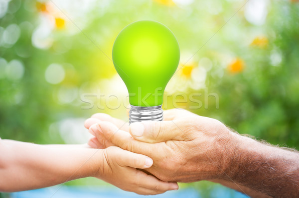 Lightbulb in hands Stock photo © Yaruta