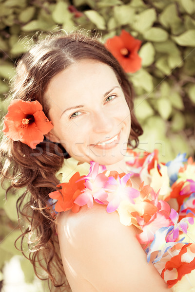 Portrait of young woman on summer vacation Stock photo © Yaruta