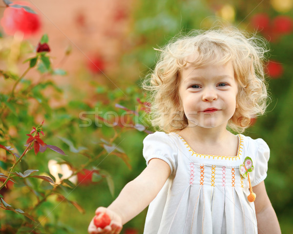 Child in garden Stock photo © Yaruta