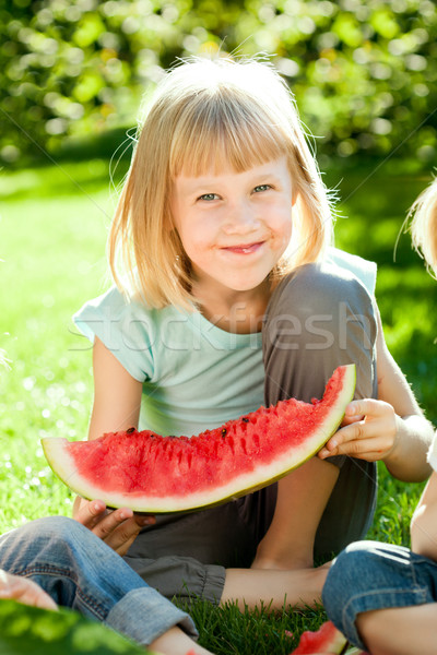 Happy child having fun Stock photo © Yaruta