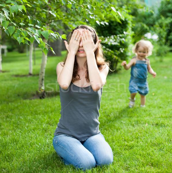 Woman and child playing Stock photo © Yaruta