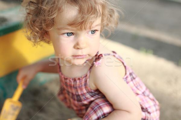 Child in sandpit Stock photo © Yaruta