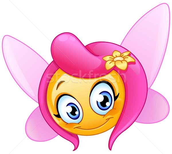 фея смайлик девушки бабочка ребенка красоту Сток-фото © yayayoyo