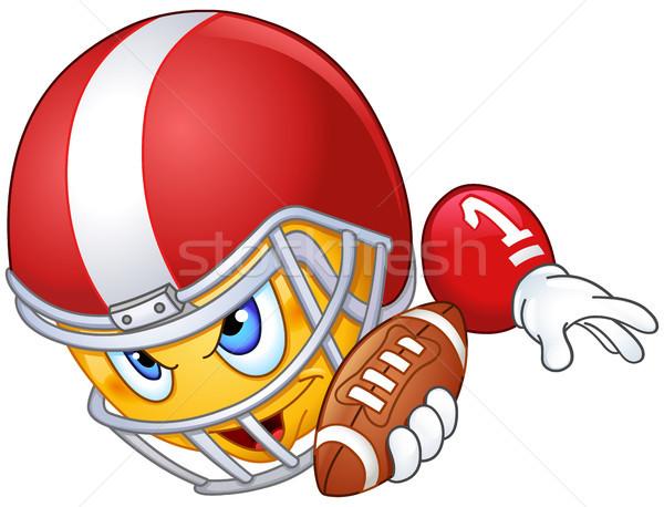 American football player emoticon Stock photo © yayayoyo