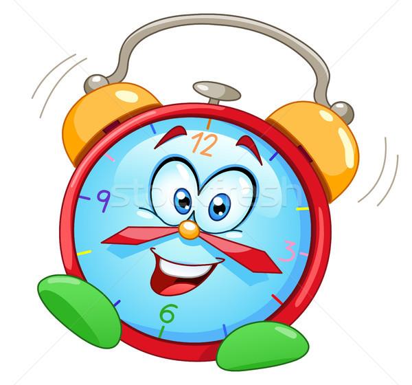 Cartoon будильник улыбка детей счастливым часы Сток-фото © yayayoyo