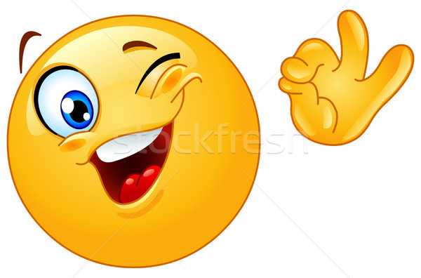 Winking emoticon Stock photo © yayayoyo