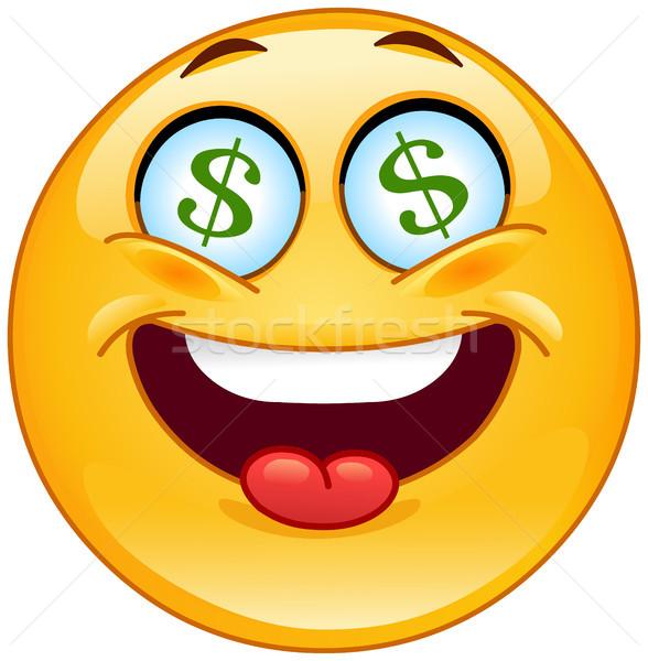 доллара смайлик бизнеса компьютер улыбка лице Сток-фото © yayayoyo