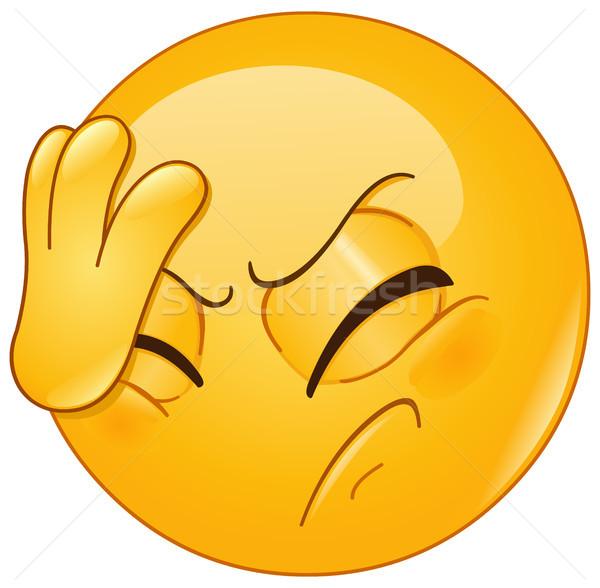 лице Palm смайлик стороны голову жест Сток-фото © yayayoyo