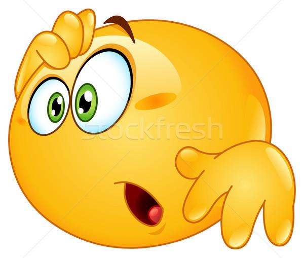 Amazed emoticon Stock photo © yayayoyo